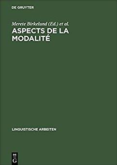 Aspects de la Modalité (Linguistische Arbeiten) (French Edition)